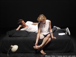 Nathalie Richard et Arnaud Cathrine dans l'adaptation de son roman Le journal intime de Benjamin Lorca paru chez Verticales