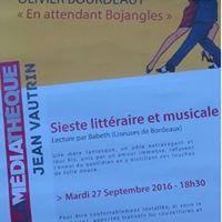 """Affiche de la sieste littéraire """"En attendant Bojangles"""", Olivier Bourdeaut, 2017"""